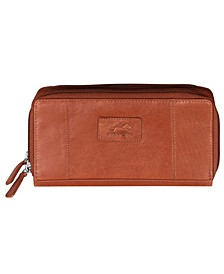 Casablanca Collection RFID Secure Double Zipper Wallet