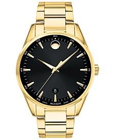 Movado Men's Swiss Stratus Gold-Tone Stainless Steel Bracelet Watch 40mm
