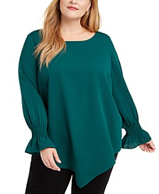 Plus Size Asymmetrical Top, Created For Macy's