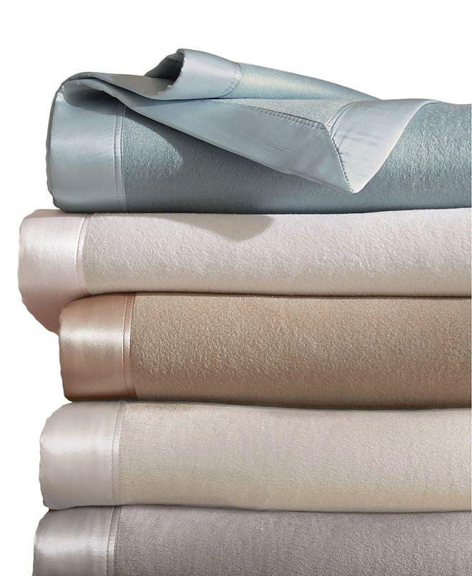 MELANGE HOME Plaza King Silk Blanket With 100% Silk Border
