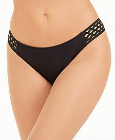 Kenneth Cole Mesh-Side Hipster Bikini Bottoms