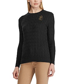 Lauren Ralph Lauren Crest Cable Sweater