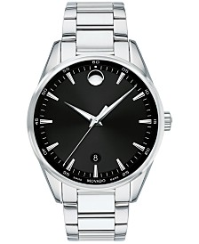 Movado Men's Swiss Stratus Stainless Steel Bracelet Watch 40mm