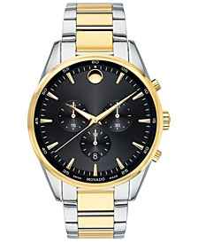 Men's Swiss Chronograph Stratus Two-Tone Stainless Steel Bracelet Watch 42mm