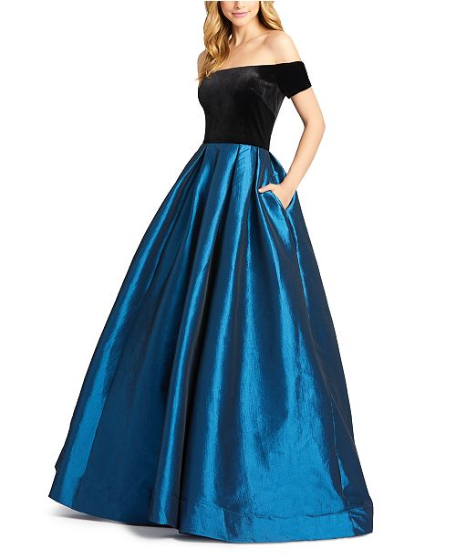 MAC DUGGAL Off-The-Shoulder Gown