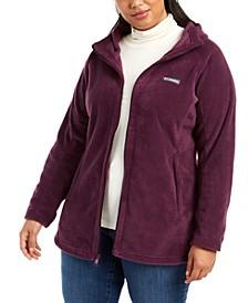 Plus Size Benton Springs Hooded Fleece Jacket