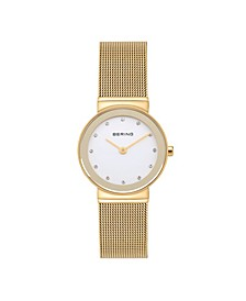 Women's Crystal Gold-Tone Stainless Steel Mesh Bracelet Watch 26mm