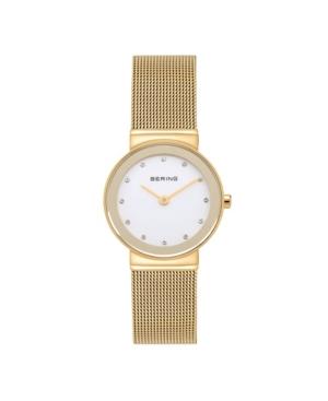 Women's Crystal Gold-Tone Stainless Steel Mesh Bracelet Watch 26mm