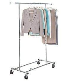 Home Solution Commercial KD Rolling Garment Rack
