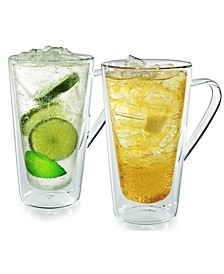 Bellagio Double-Wall Glassware Mugs - Set of 2