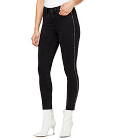 WILLIAM RAST Piping-Trim High-Rise Skinny Ankle Jeans