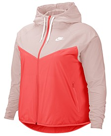 Plus Size Windrunner Hooded Jacket