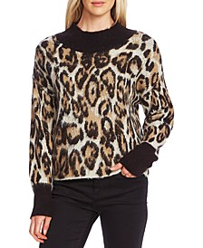 Animal-Patterned Jacquard Sweater