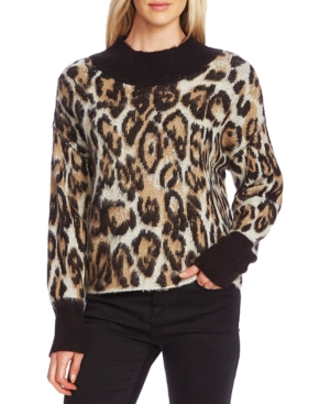 Vince Camuto Sweaters ANIMAL-PATTERNED JACQUARD SWEATER