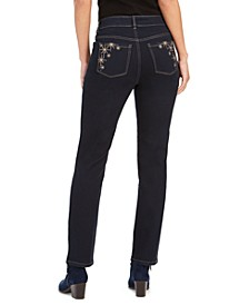 Straight-Leg Bling Pocket Jeans, Created For Macy's