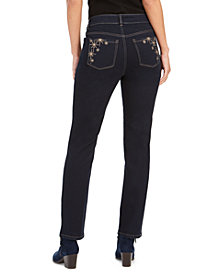 Style & Co Straight-Leg Bling Pocket Jeans, Created For Macy's