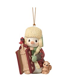 Precious Moments May Your Holidays Be Filled With Winter Thrills 10th Annual Snowman Christmas Ornament