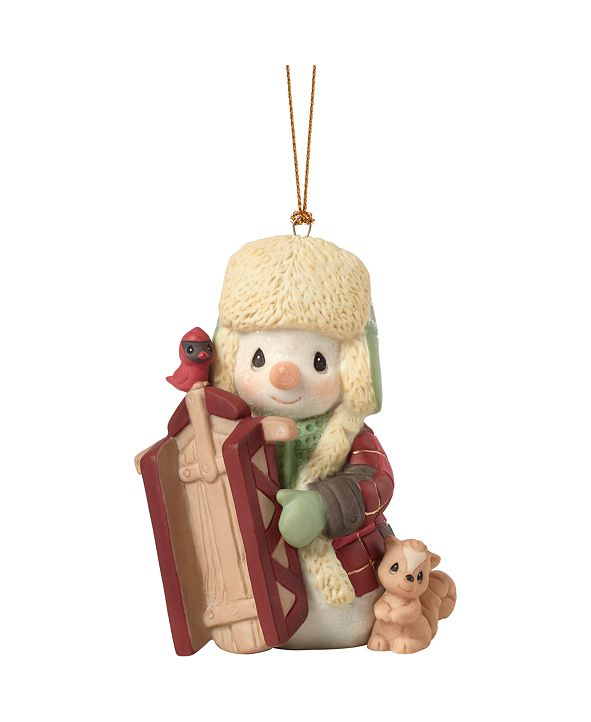 Ne'Qwa Precious Moments May Your Holidays Be Filled With Winter Thrills 10th Annual Snowman Christmas Ornament