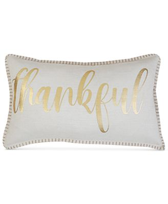 "Grace Thankful 14"" x 24"" Decorative Pillow"