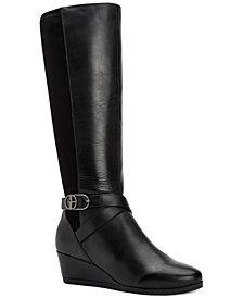 Giani Bernini Chelseyy Memory-Foam Wedge Boots, Created for Macy's