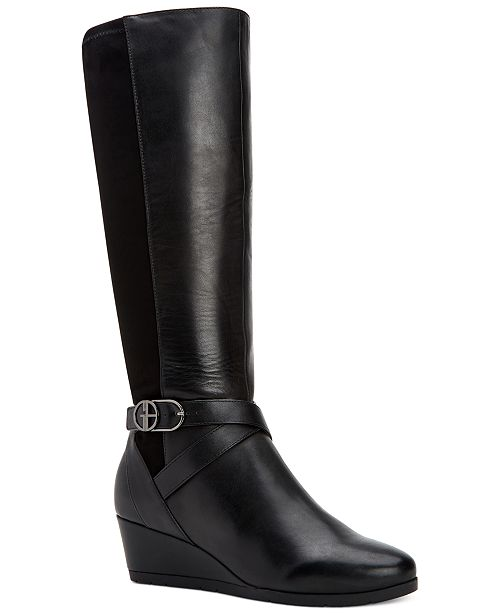 Giani Bernini Chelseyy Memory-Foam Wedge Boots, Created for Macy's