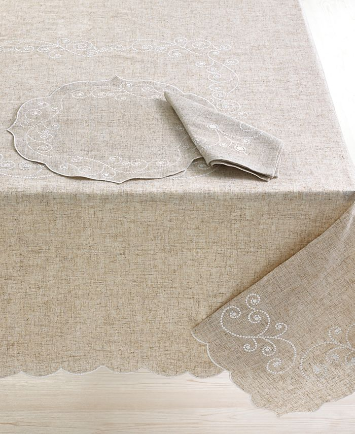 """Lenox - French Perle 60"""" x 120"""" Tablecloth"""