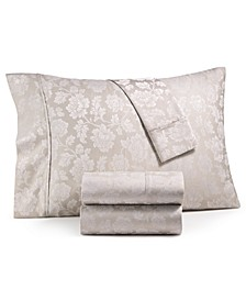 1000-Thread Count 4-Pc. Queen Floral Jacquard Sateen Sheet Set