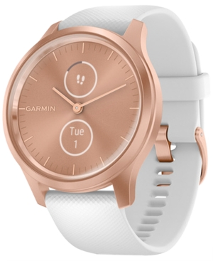 Unisex Vivomove 3 Style Rose Gold Silicone Strap Smart Watch 24.1mm