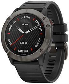 Garmin Fenix 6X Black Silicone Strap Smart Watch 42mm