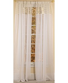 Juliette Crochet Tab Top Sheer Curtain Collection
