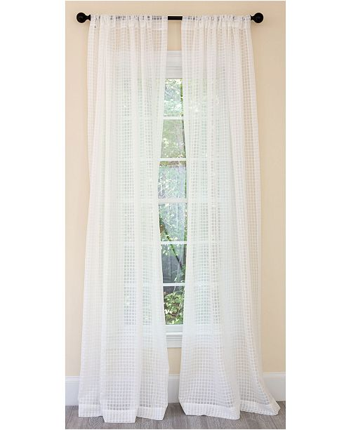 Manor Luxe Bonita Plaid Sheer Rod Pocket Curtain Collection