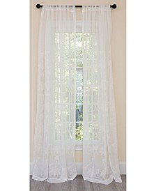 Lillie Embroidered Sheer Rod Pocket Curtain Collection
