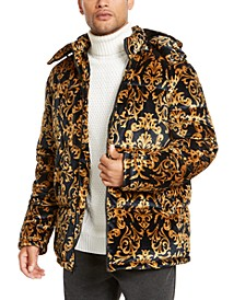 INC Men's Paisley Hooded Velvet Jacket, Created For Macy's