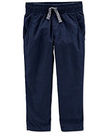 Toddler Boys Pull-On Poplin Pants