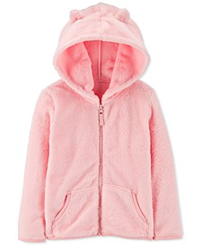 Toddler Girls Velboa Faux-Fur Zip-Up Hoodie