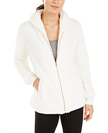 Ideology Quilted Fleece Jacket, Created for Macy's