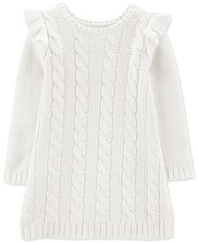 Toddler Girls Cable-Knit Sweater Dress