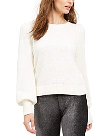 Chenille Balloon-Sleeve Sweater, Regular & Petite Sizes, Created for Macy's