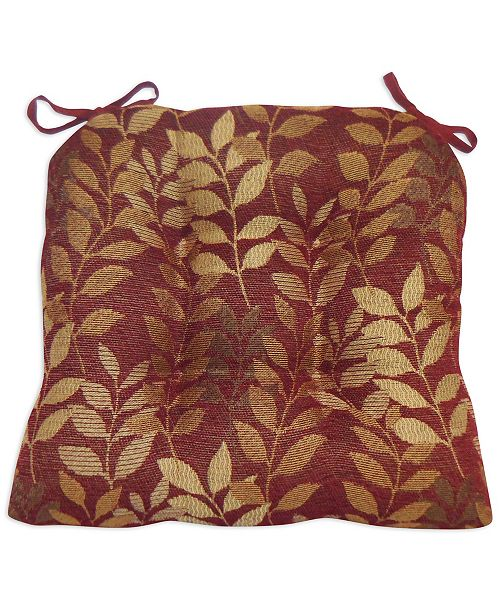 Arlee Home Fashions Delano Set of 2 Chair Pad Seat Cushions