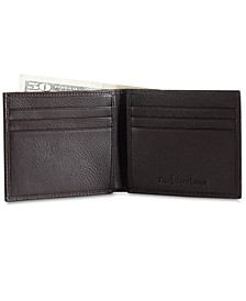 Men's Accessories, Pebbled Leather Billfold Wallet