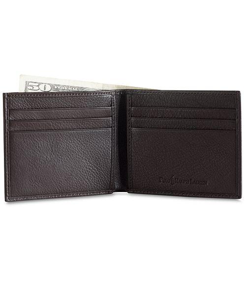 5371103d ... Polo Ralph Lauren Men's Accessories, Pebbled Leather Billfold Wallet ...