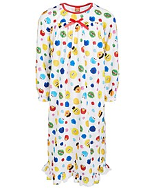 Isaac Mizrahi Loves SesStreet Toddler, Little & Big Girls Nightgown
