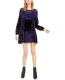 Mirror Mirror Velvet Mini Dress