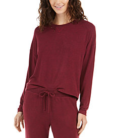 Alfani Cozy Knit Long Sleeve Sleep Top, Created For Macy's