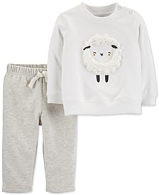 Baby Boys & Girls 2-Pc. Sheep Sweatshirt & Jogger Pants Set