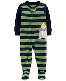 Baby Boys 1-Pc. Walrus Fleece Footie Pajamas