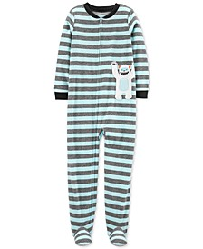 Little & Big Boys 1-Pc. Abominable Snowman Fleece Footie Pajamas