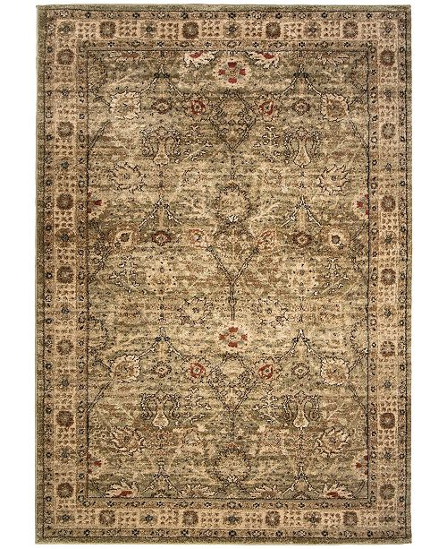 Palmetto Living ORI401844 Aria Tree of Life Green 5'1 x 7'6 Area Rug