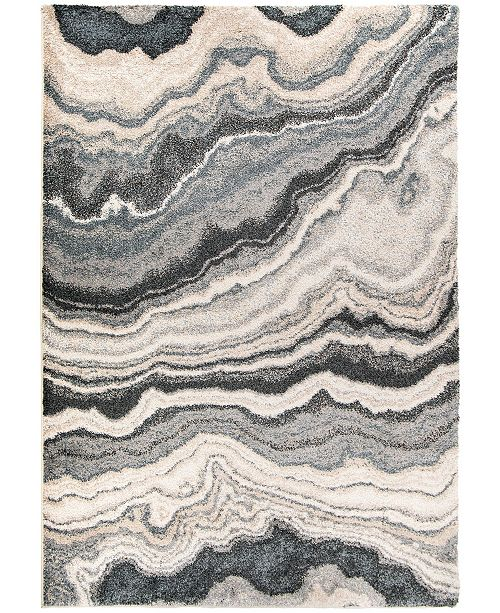 Palmetto Living Mystical Cascade Taupe Inkwell 9 'x 13' Area Rug