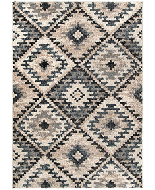 "Palmetto Living Mystical Western Sky Muted Blue 5'3"" x 7'6"" Area Rug"